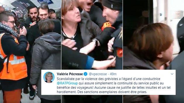 La RATP ouvre une enquête après une altercation entre une conductrice et des grévistes - Le HuffPost