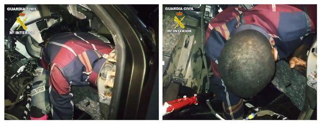 Imágenes difundidas por la Guardia Civil del estado en el que se encontró al