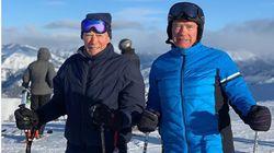 Schwarzy et Clint Eastwood skient ensemble et challengent les