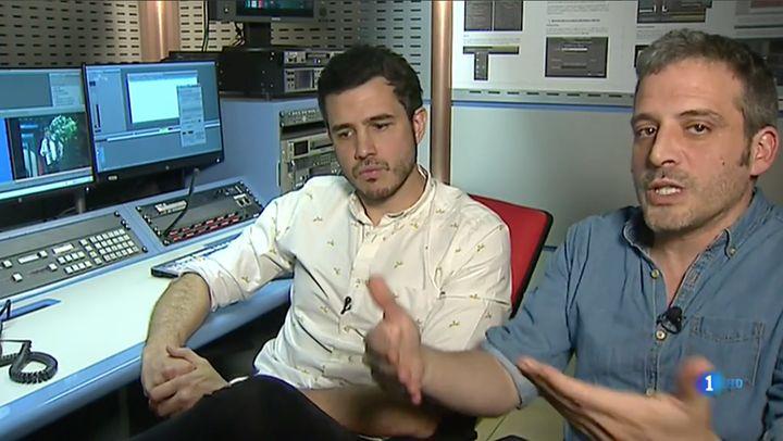 Pablo González Batista (izq.) y Antonio Vicente (dcha.), guionistas de 'Cachitos'.