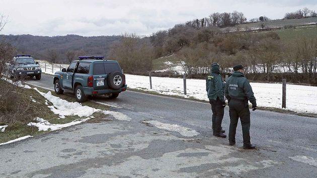 Guardias civiles en Navarra, en una imagen de