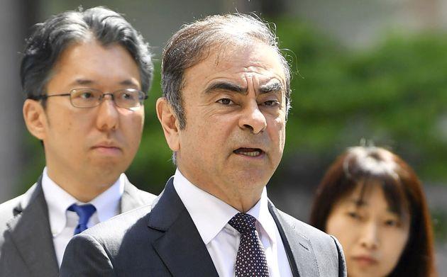 Carlos Ghosn au Japon en 2019, au début des procédures