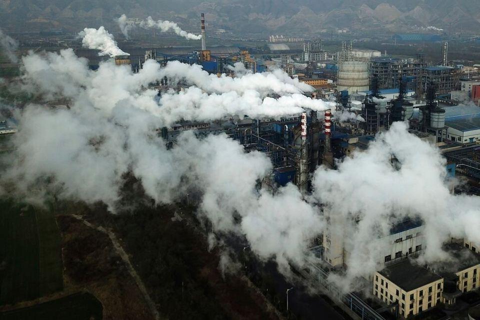 Planta de procesado de carbón en China, 28 de noviembre de