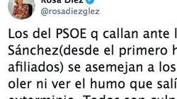 Rosa Díez compara a los militantes del PSOE con