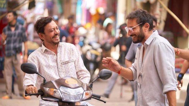 Irrfan Khan and Homi Adajania in 'Angrezi