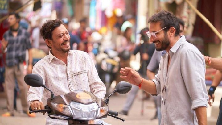 Irrfan Khan and Homi Adajania in 'Angrezi Medium'