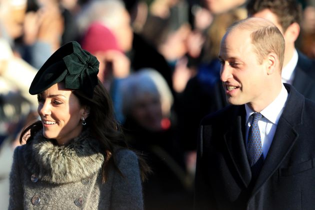 KING'S LYNN, ENGLAND - DECEMBER 25: Prince William, Duke of Cambridge and Catherine, Duchess of Cambridge...