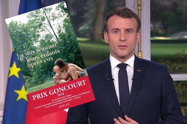 Dans ses voeux pour 2020, Emmanuel Macron a glissé une discrète allusion au prix Goncourt 2018, livre...