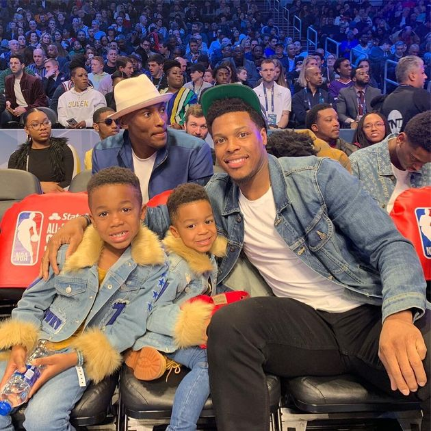 Kyle Lowry has two sons, Kameron and Karter, with wife Ayahna Cornish.