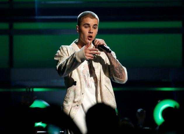 Justin Bieber, lors de la remise des Billboard Awards, à Las Vegas, en