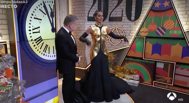El vestido de Nochevieja de Cristina