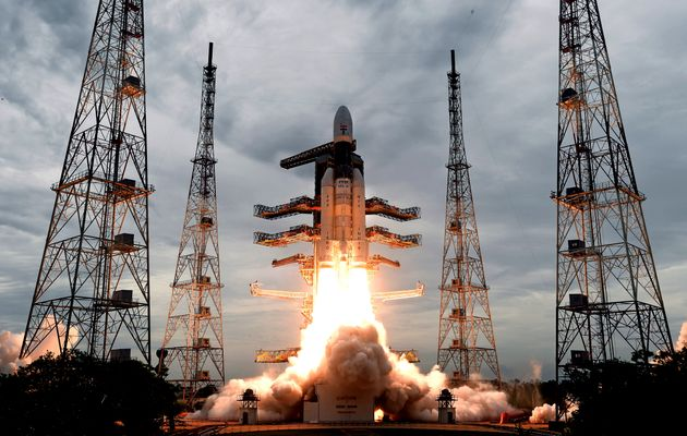 This photo released by the Indian Space Research Organization (ISRO) shows its Geosynchronous Satellite...