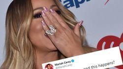 Insultes racistes et pénis d'Eminem, le compte Twitter de Mariah Carey