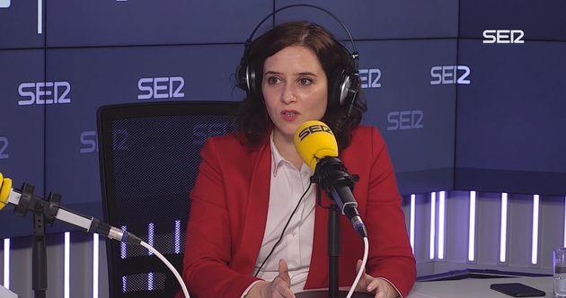 Isabel Díaz Ayuso, entrevistada en la Cadena