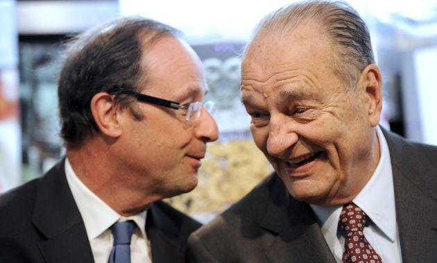 François Hollande et Jacques Chirac, ici lors de l'inauguration d'une exposition au musée...