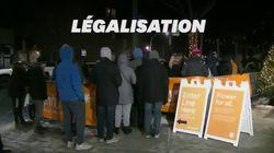 À Chicago, des centaines de personnes patientent dans le froid pour acheter du cannabis