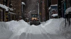Montréal: une première opération de chargement de neige