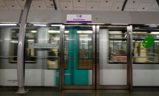 Sur un quai de la ligne 14, station Madeleine, à Paris, le 25 décembre