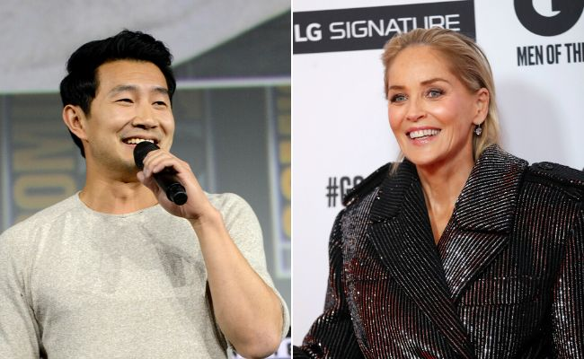 Simu Liu and Sharon Stone.