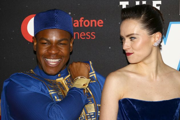 Daisy Ridley et John Boyega à l'avant-première de