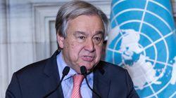 구테흐스 유엔 사무총장이 북한의 발표에