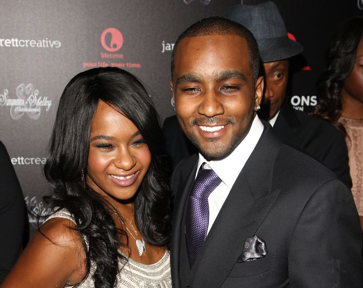Bobbi Kristina Brown and Nick Gordon in Oct. 22, 2012, in New York. Gordon's attorney confirmed his death on Wednesday.