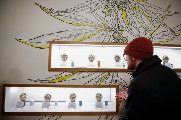A customer shops for a recreational marijuana at Dispensary 33 store on January 1, 2020 in Chicago, Illinois....