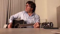 Puigdemont despide el año cantando 'country'... y con