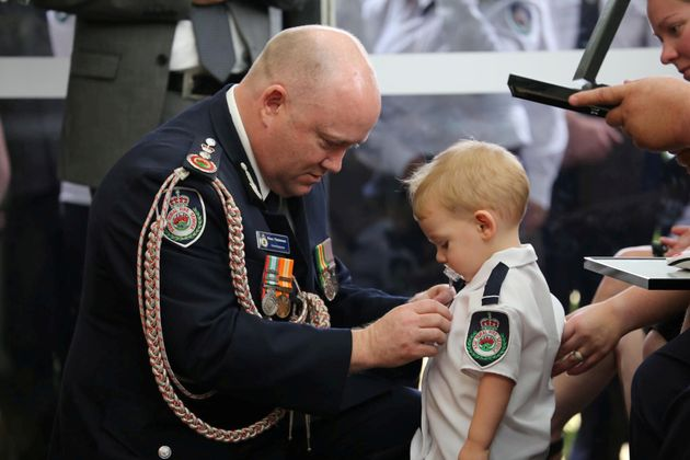 Toddler Son Of Volunteer Firefighter Receives Bravery Medal For Father Killed In Sydney Bush Fires