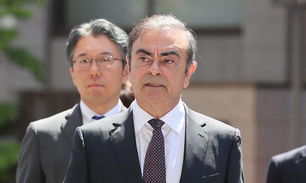 Carlos Ghosn en mai 2019 à son arrivée à un tribunal de