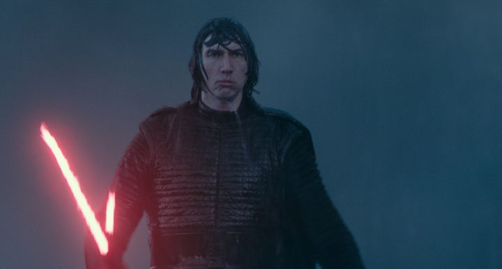 Kylo Ren probably wishing he had an umbrella.