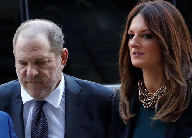 Rotunno (der) junto a su defendido, Weinstein