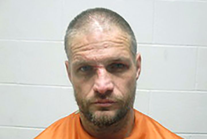This Jan. 1, 2020, photo provided by the Creek County (Oklahoma) Sheriff's Department shows Brandon Wade Kirby. Police in Okl