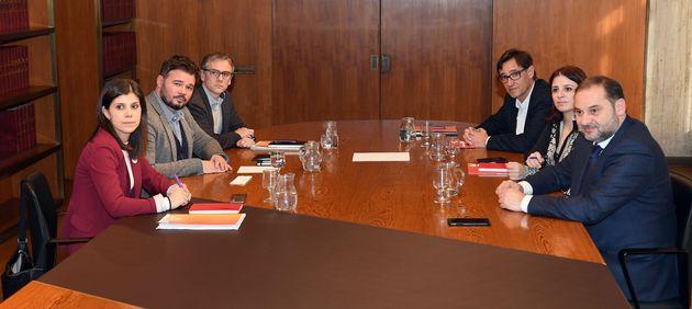 Reunión entre equipos negociadores de ERC y