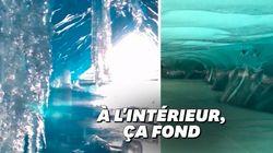 La fonte des glaciers se voit de l'intérieur avec les vidéos de ce jeune