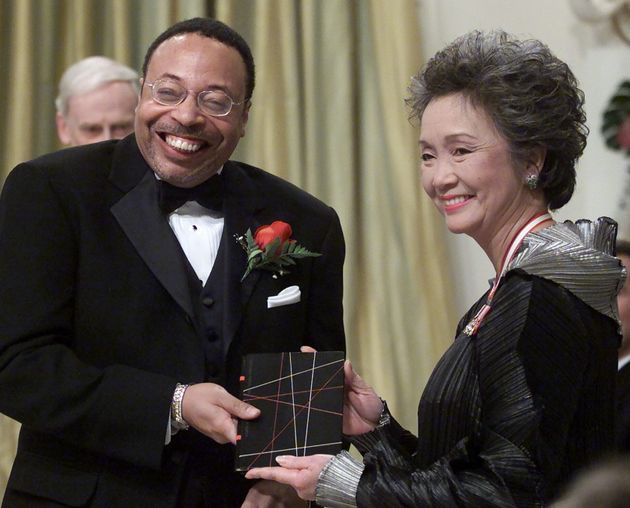 Governor General Adrienne Clarkson presents the Governor General's Literary Award for poetry to George...