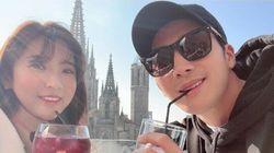 이완과 이보미의 신혼여행 사진이 공개됐다
