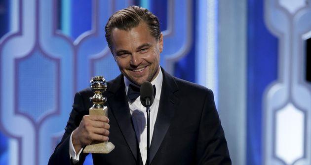 Leonardo DiCaprio remporte le Golden Globe du Meilleur acteur le 10 janvier 2016 pour