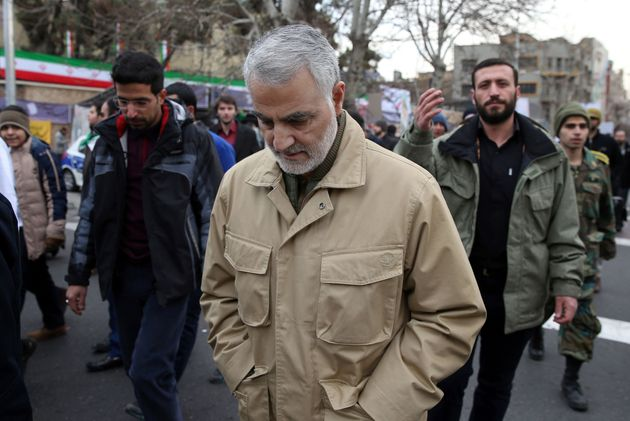 The commander of the Iranian Revolutionary Guard's Quds Force, General Qassem Suleimani, attends celebrations...