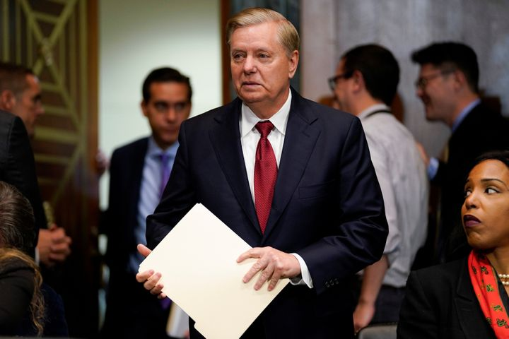 """Sen. Lindsey Graham (R-S.C.) tweeted:""""Thank you, Mr. President, for standing up for America."""""""