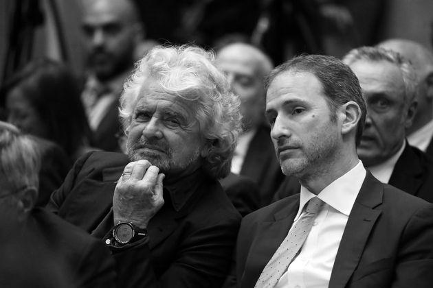 Beppe Grillo and Davide Casaleggio of the Movimento 5