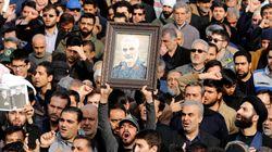 L'addio della moglie a Soleimani:
