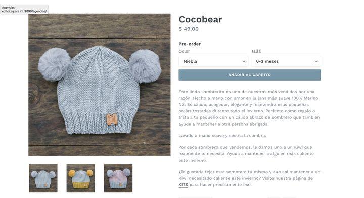Gorro Cocobear de Make Give Live.