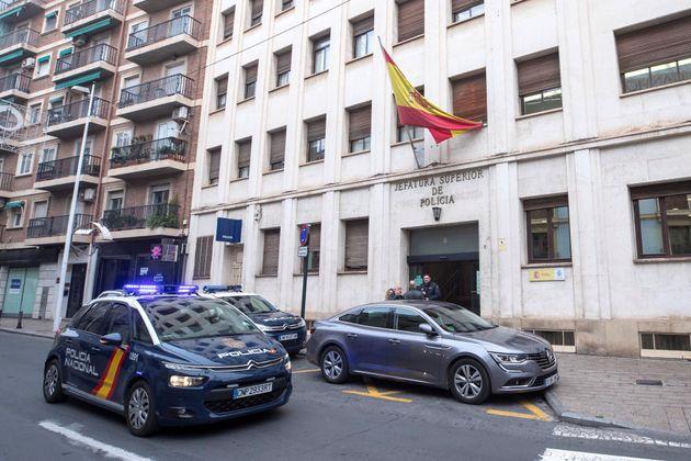 Sede de la Jefatura Superior de la Policía Nacional en Murcia, donde se encuentran los