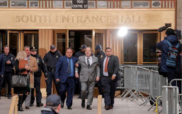 Imagen de archivo de diciembre de 2019 de Weinstein llegando a la Corte Suprema de Nueva