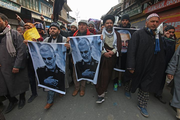 More from the protest in central Kashmir.