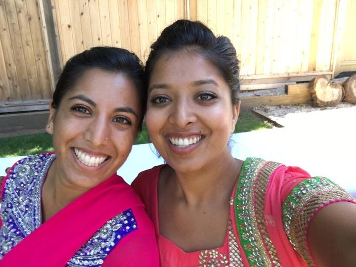 Nath, left, and her cousin, Alisha Ismail, both grew up reluctant to speak their family's language, Hindi.