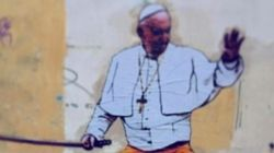 Papa Francesco come Kill Bill. Murales subito