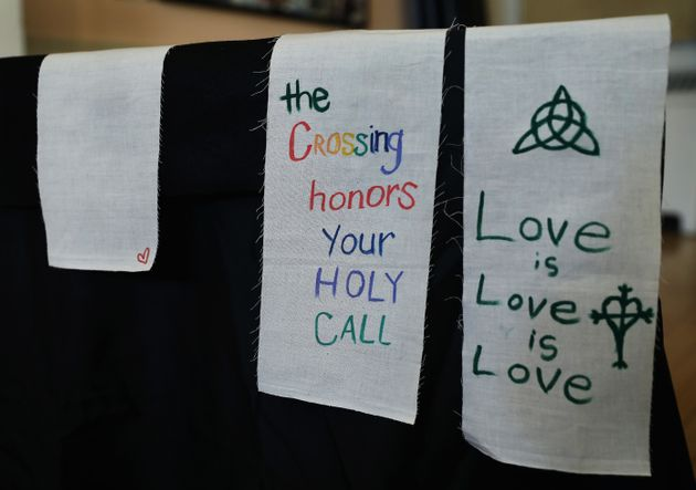 Stoles intended for those with a calling to the ordained ministry at Old West Church in Boston on March...