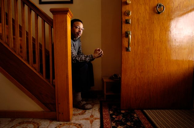 George Elliot Clarke photographed in his Toronto home near Greenwood and